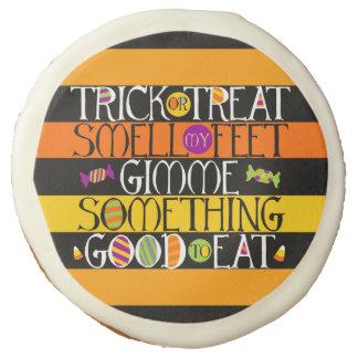 Trick or Treat Halloween Rhyme Sugar Cookie