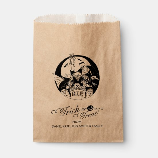 Trick or Treat Halloween Roster Favor Bag