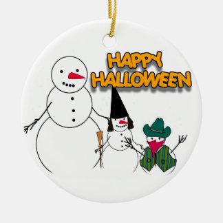 Trick or Treat Halloween Snowmen Christmas Ornament