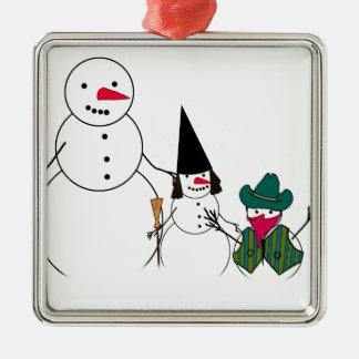 Trick or Treat Halloween Snowmen Christmas Tree Ornaments