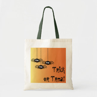 Trick Or Treat Halloween Spiders Bag