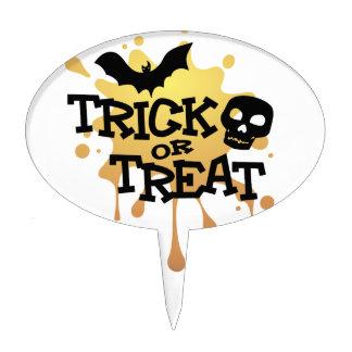 Trick Or Treat Halloween Splat Cake Topper