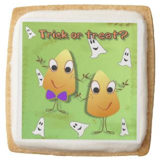 Trick or treat Halloween Square Shortbread Square Shortbread Cookie