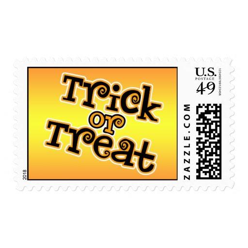 Trick Or Treat Halloween Stamp