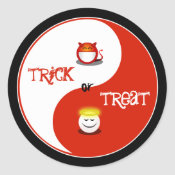 Trick or Treat Halloween Stickers sticker