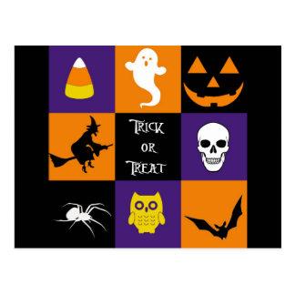 Trick or Treat Halloween Themes Postcard