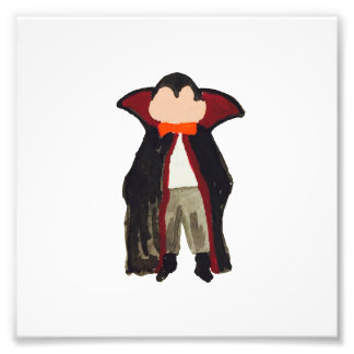Trick or Treat Halloween Toddler Vampire Dracula Photo Print