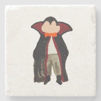 Trick or Treat Halloween Toddler Vampire Dracula Stone Coaster