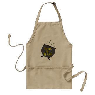 Trick or Treat Halloween Witch Cauldron Adult Apron