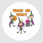 Trick Or Treat Halloween Witches Stickers