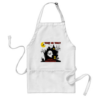Trick or Treat, Happy Halloween Adult Apron