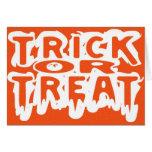 Trick or Treat - Happy Halloween card