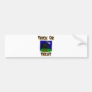 Trick Or Treat Haunted House Bumper Sticker