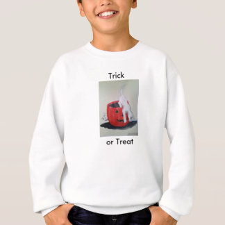 Trick or Treat Jack O Lantern and white cats Sweatshirt