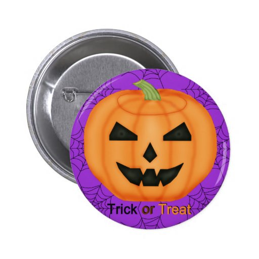 Trick or Treat Jack o' Lantern Button
