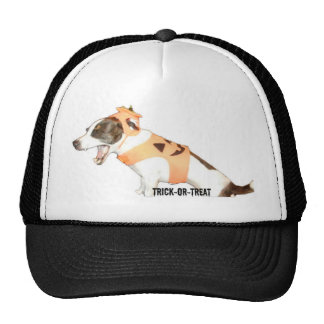 Trick or Treat Jack Russell Trucker Hat