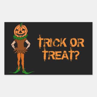 Trick or Treat Jackolanternman Rectangular Sticker