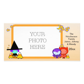 Trick Or Treat Kids in Halloween Frame - Card