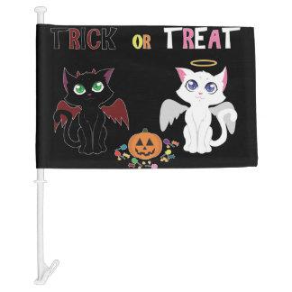 Trick or Treat Kittens Car Flag