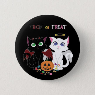 Trick or Treat Kittens Pinback Button