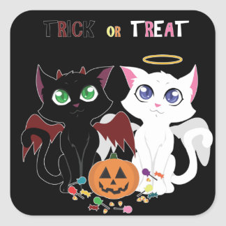 Trick or Treat Kittens Stickers