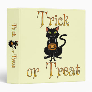 Trick or Treat Kitty Binder