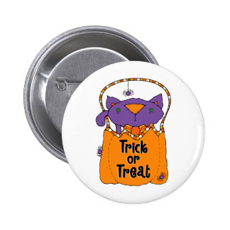 Trick or Treat Kitty 2 Inch Round Button