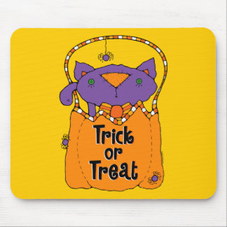 Trick or Treat Kitty Mousepads