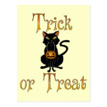 Trick or Treat Kitty Post Card