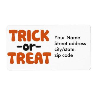 Trick or Treat Label