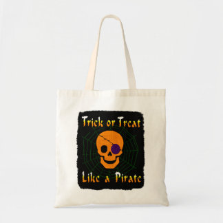 Trick or Treat like a Pirate Canvas Bags