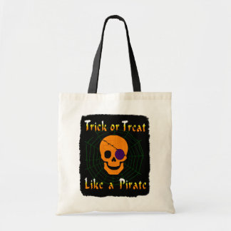 Trick or Treat like a Pirate Tote Bag