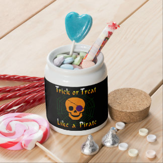 Trick or Treat like a Pirate Candy Jar