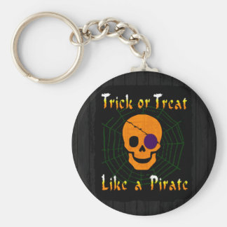 Trick or Treat like a Pirate Basic Round Button Keychain