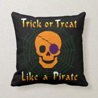 Trick or Treat like a Pirate Throw Pillows