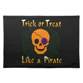 Trick or Treat like a Pirate Placemats