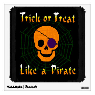 Trick or Treat like a Pirate Wall Decal