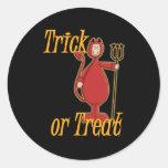 Trick or Treat Li'l Devil Classic Round Sticker