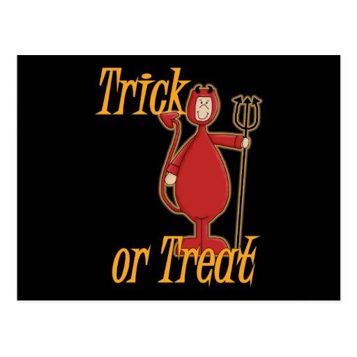 Trick or Treat Li'l Devil Postcard