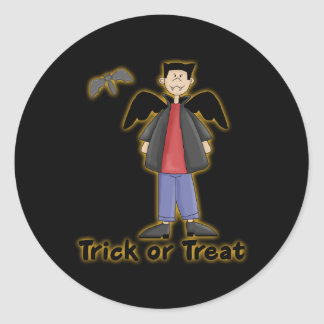 Trick or Treat Little Vampire Classic Round Sticker