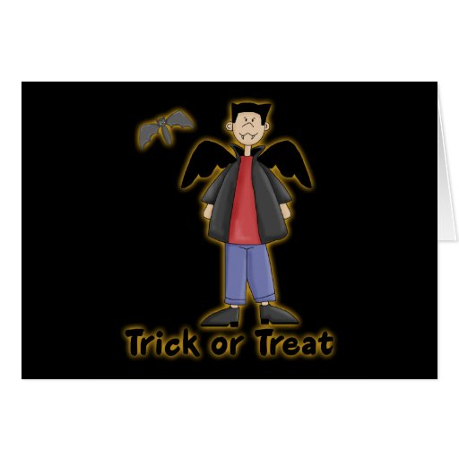 Trick or Treat Little Vampire Greeting Card