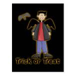 Trick or Treat Little Vampire Postcard