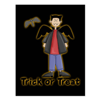 Trick or Treat Little Vampire Postcard