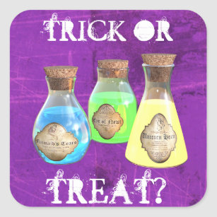 Trick or Treat Magical Potions Halloween Stickers