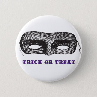Trick or Treat Mask Button