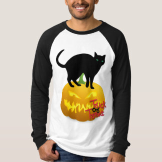 Trick-Or-Treat Men's Halloween Raglan Shirt