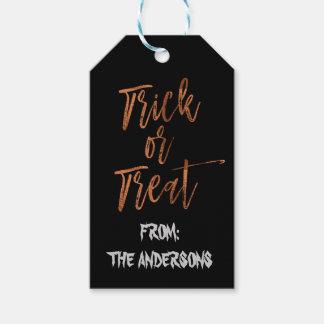 Trick or Treat Modern Halloween Gift Label