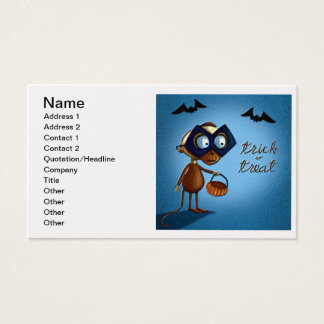Trick or Treat Money or Eat on Halloween Business Card