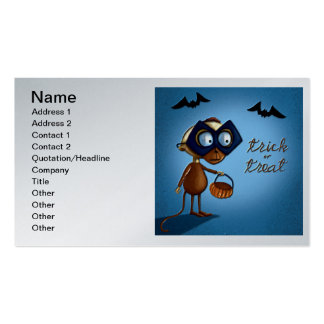 Trick or Treat Money or Eat on Halloween Double-Sided Standard Business Cards (Pack Of 100)