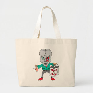 Trick Or Treat Monster Canvas Bags